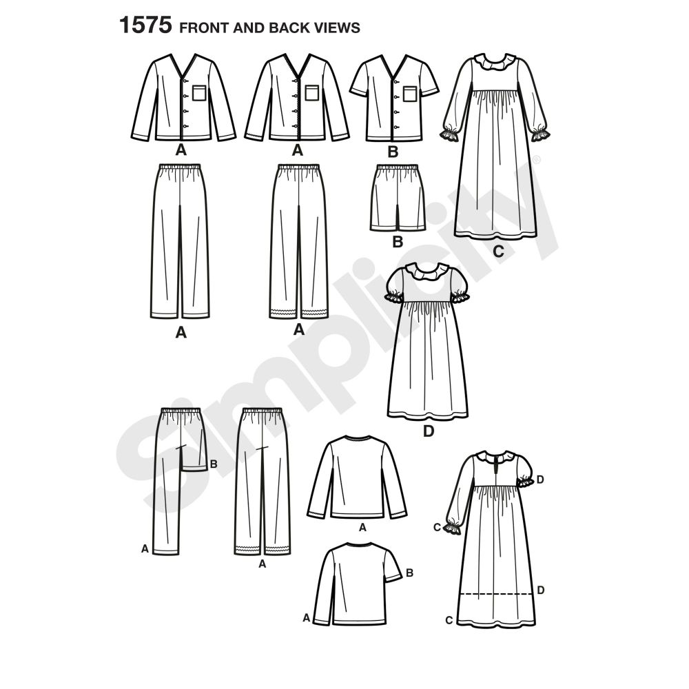 simplicity-girls-pattern-1575-front-back-view