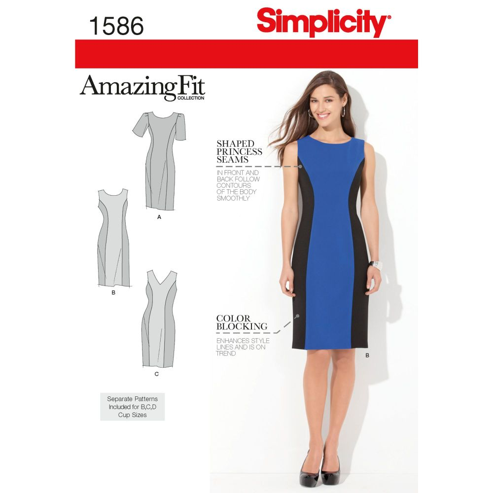 S1586 Simplicity sewing pattern BB (20W-28W)