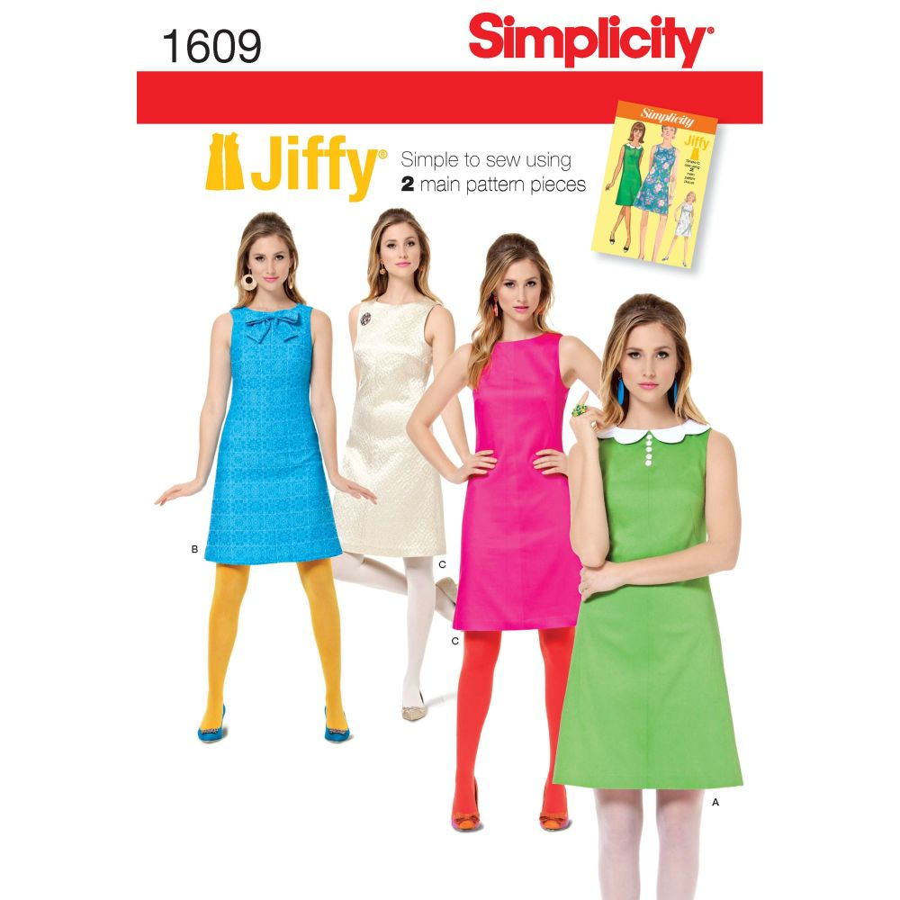 S1609 Simplicity sewing pattern H5 (6-8-10-12-14)