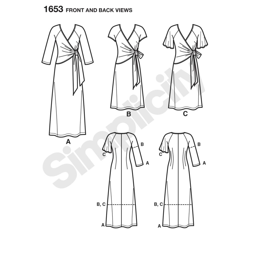 simplicity-dresses-pattern-1653-front-back-view