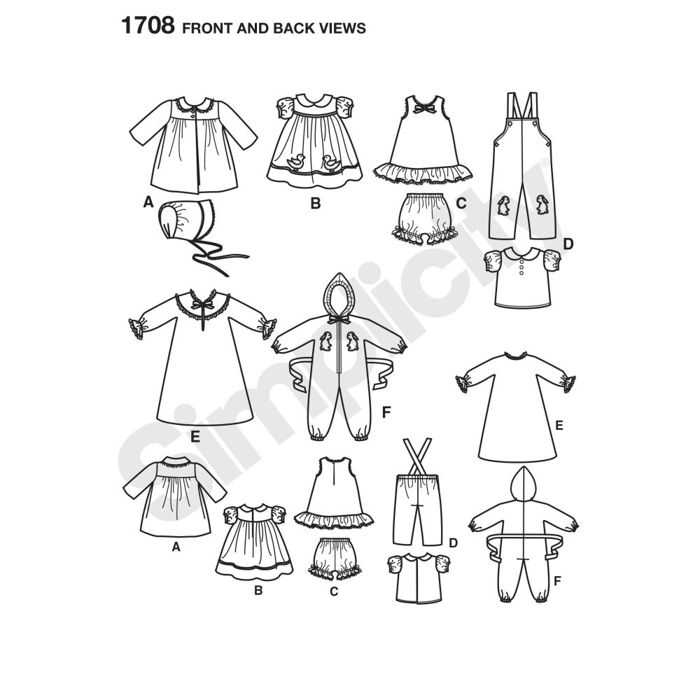 simplicity-doll-clothing-pattern-1708-front-back-view