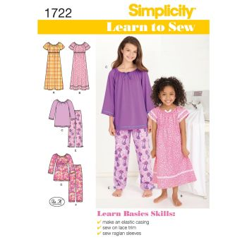 S1722 Simplicity sewing pattern HH 3-4-5-6