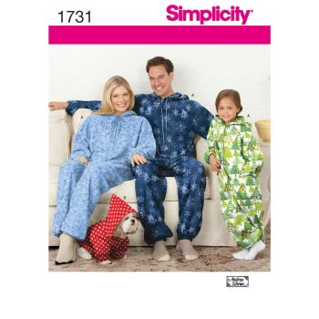 S1731 Simplicity sewing pattern  A (XS - L / XS - XL)