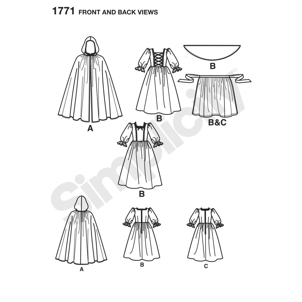 simplicity-costumes-pattern-1771-front-back-view