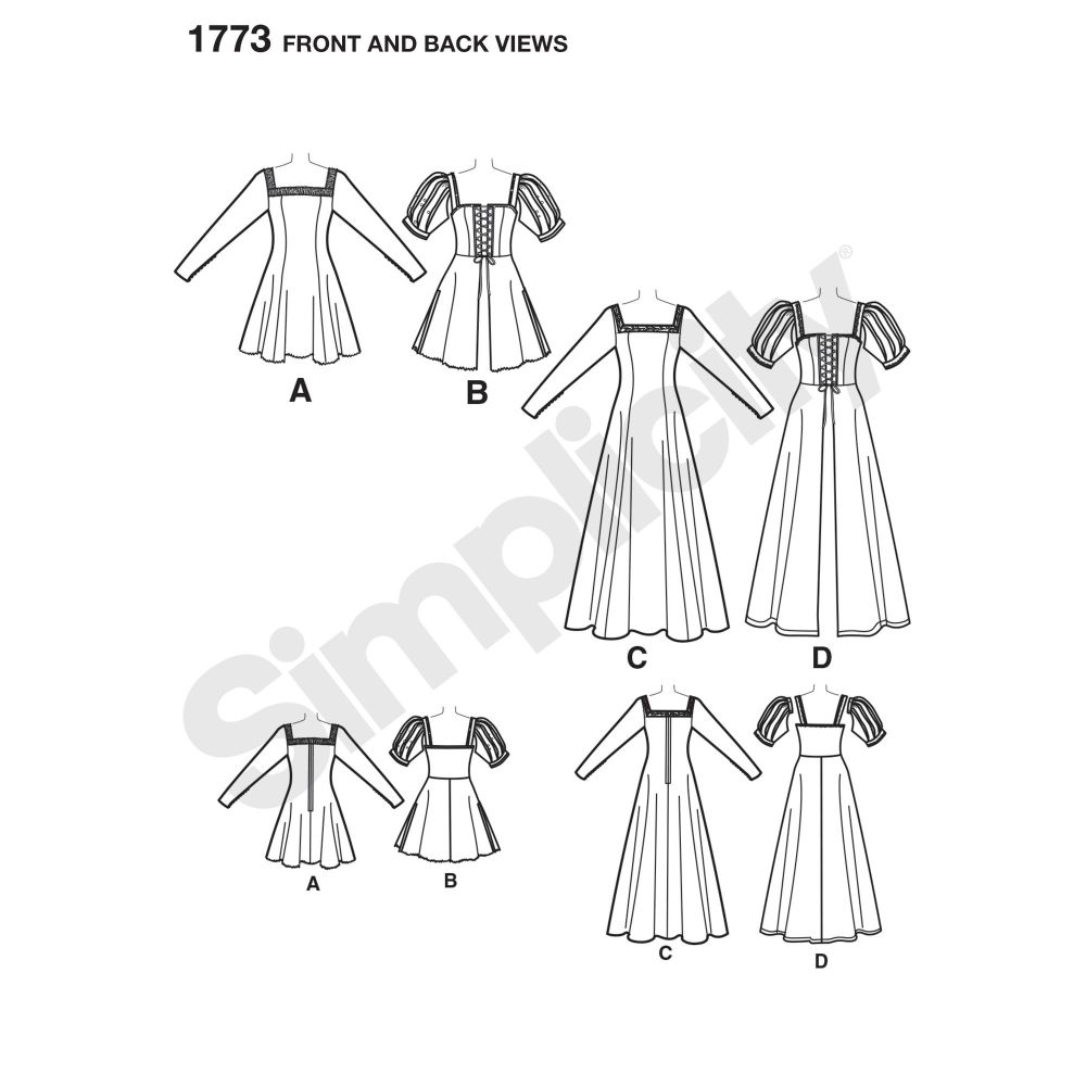 simplicity-costumes-pattern-1773-front-back-view