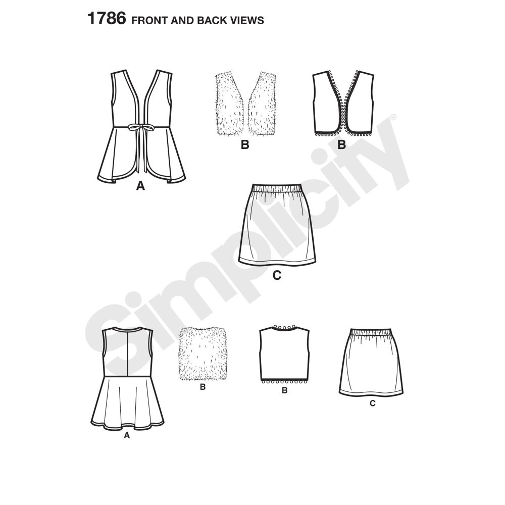 simplicity-girls-pattern-1786-front-back-view