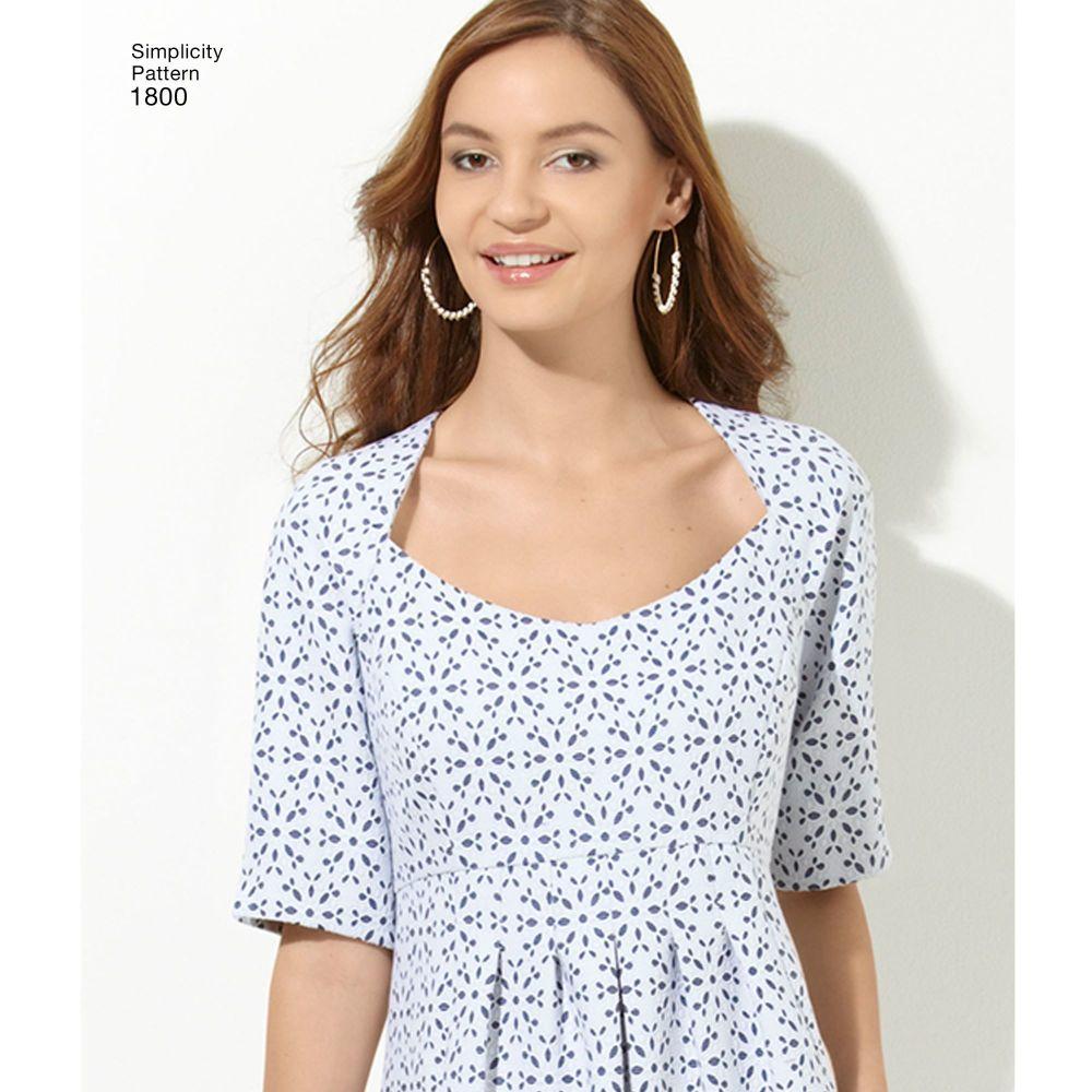 simplicity-dresses-pattern-1800-AV1A