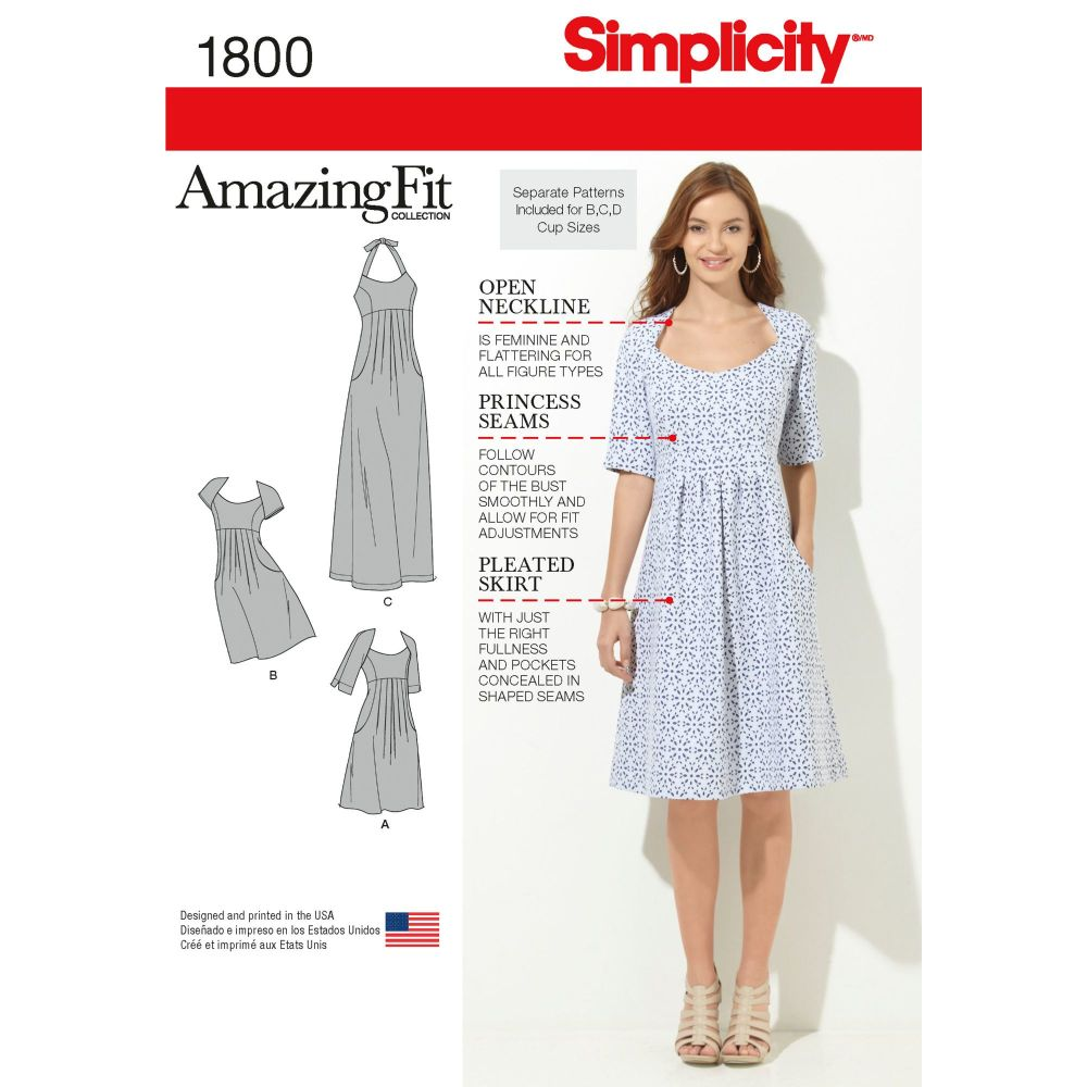 S1800 Simplicity sewing pattern AA (10-12-14-16-18)