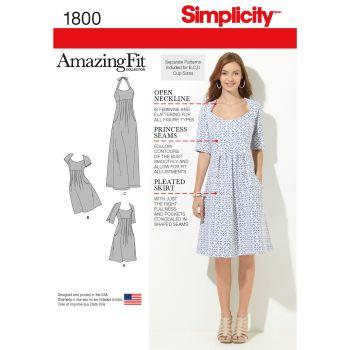 1800 Simplicity sewing pattern BB (20W-28W)