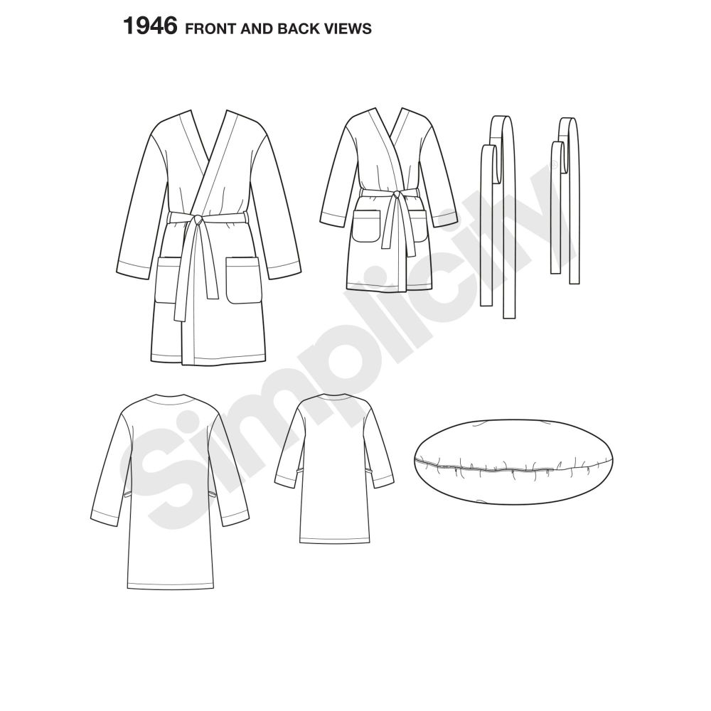 simplicity-unisex-scrubs-pattern-1946-front-back-view