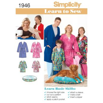 S1946 Simplicity sewing pattern A (XS - L / XS - XL)