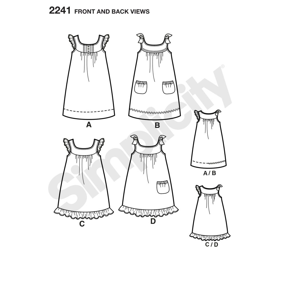 simplicity-girls-pattern-2241-front-back-view