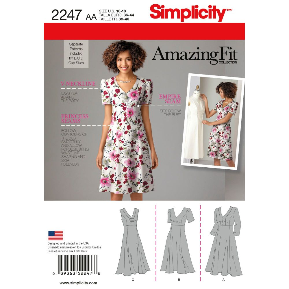 S2247 Simplicity sewing pattern AA (10-12-14-16-18)