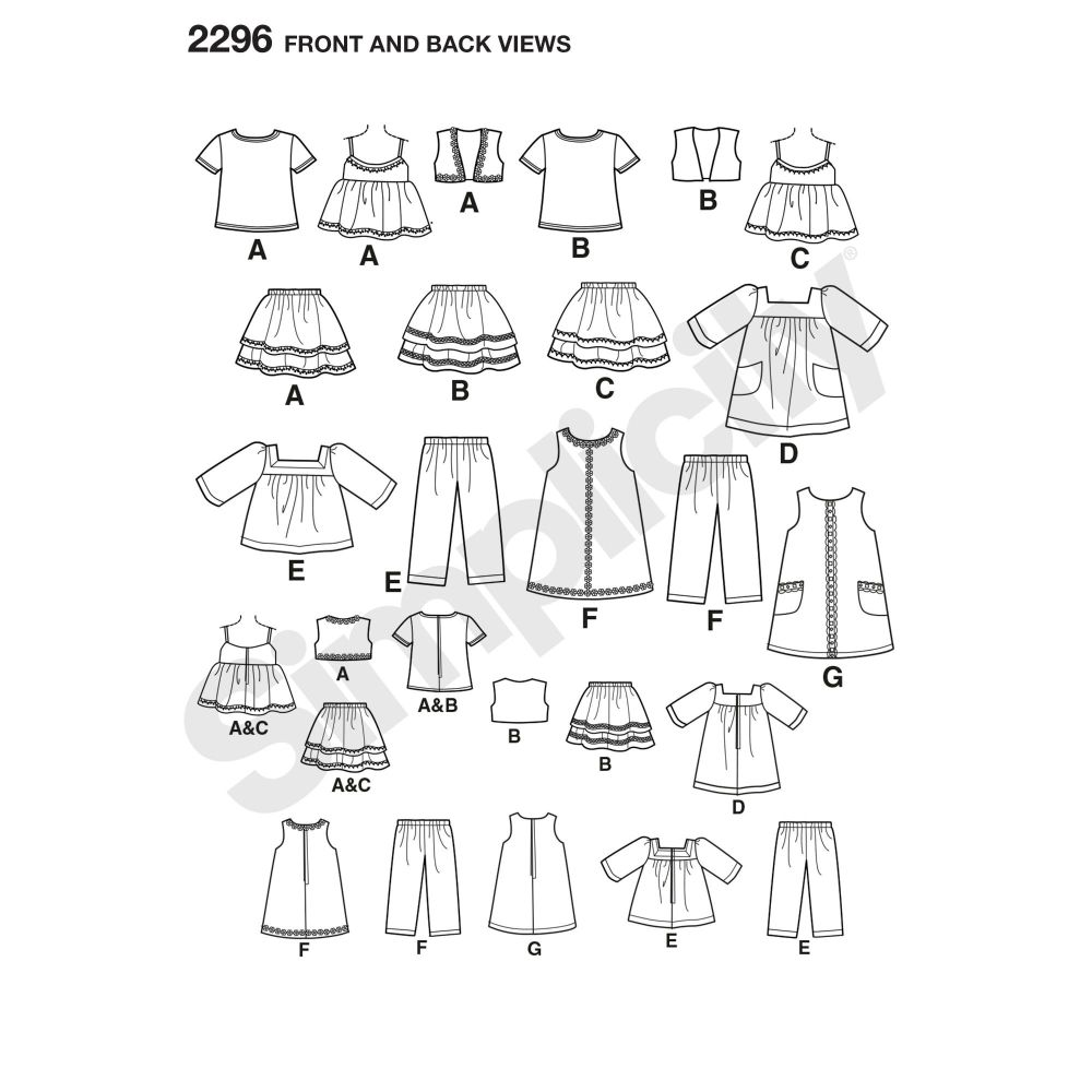 simplicity-doll-clothing-pattern-2296-front-back-view