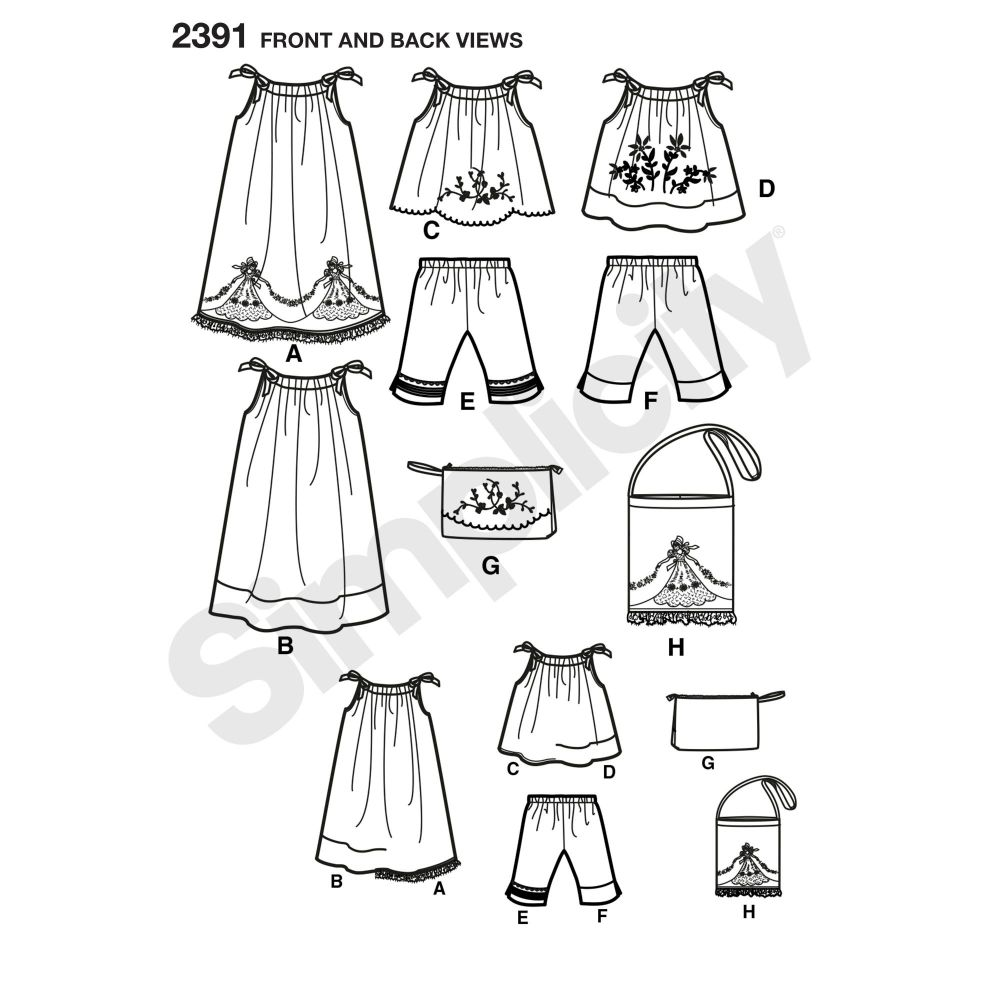 simplicity-girls-pattern-2391-front-back-view