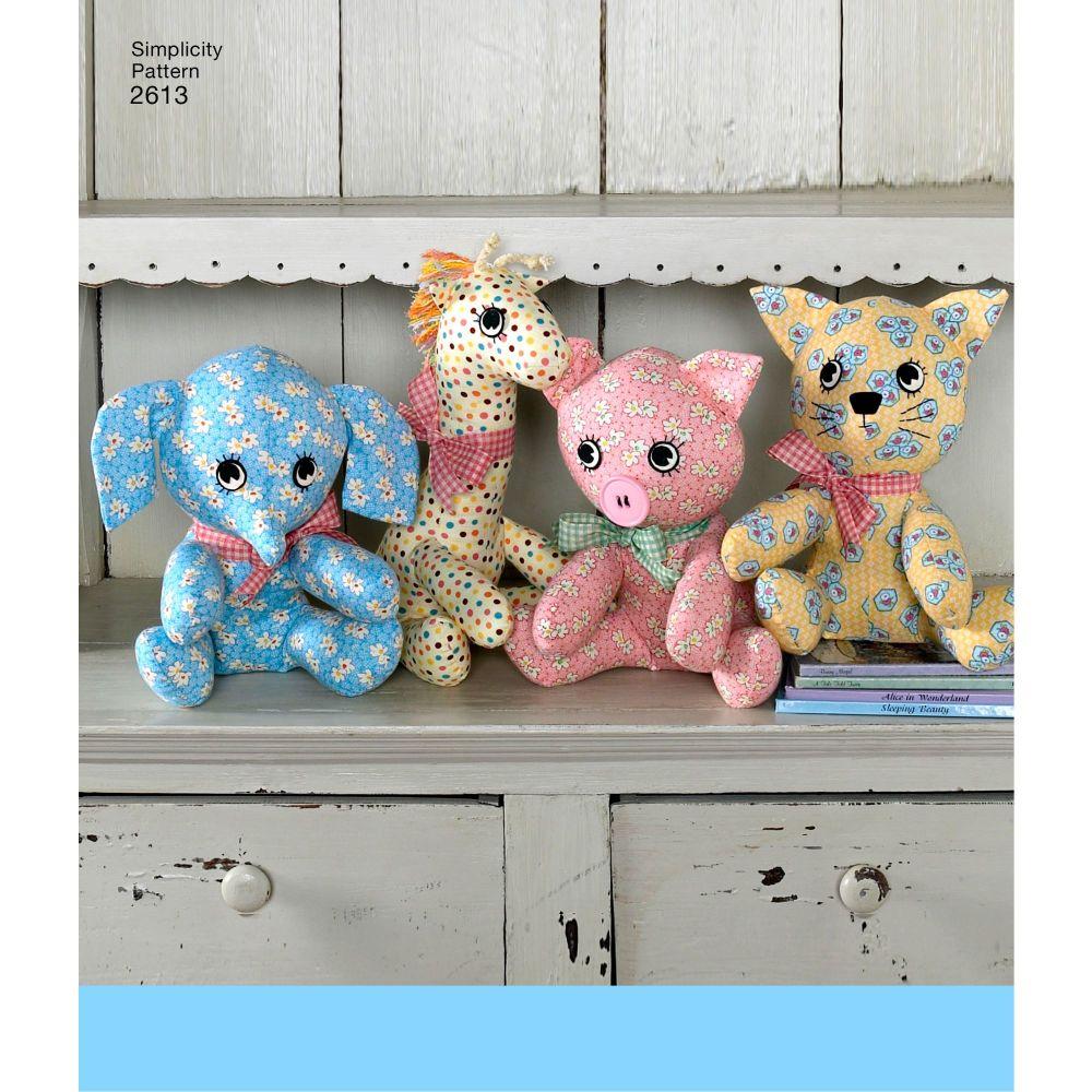 simplicity-stuffed-animals-pattern-2613-AV1