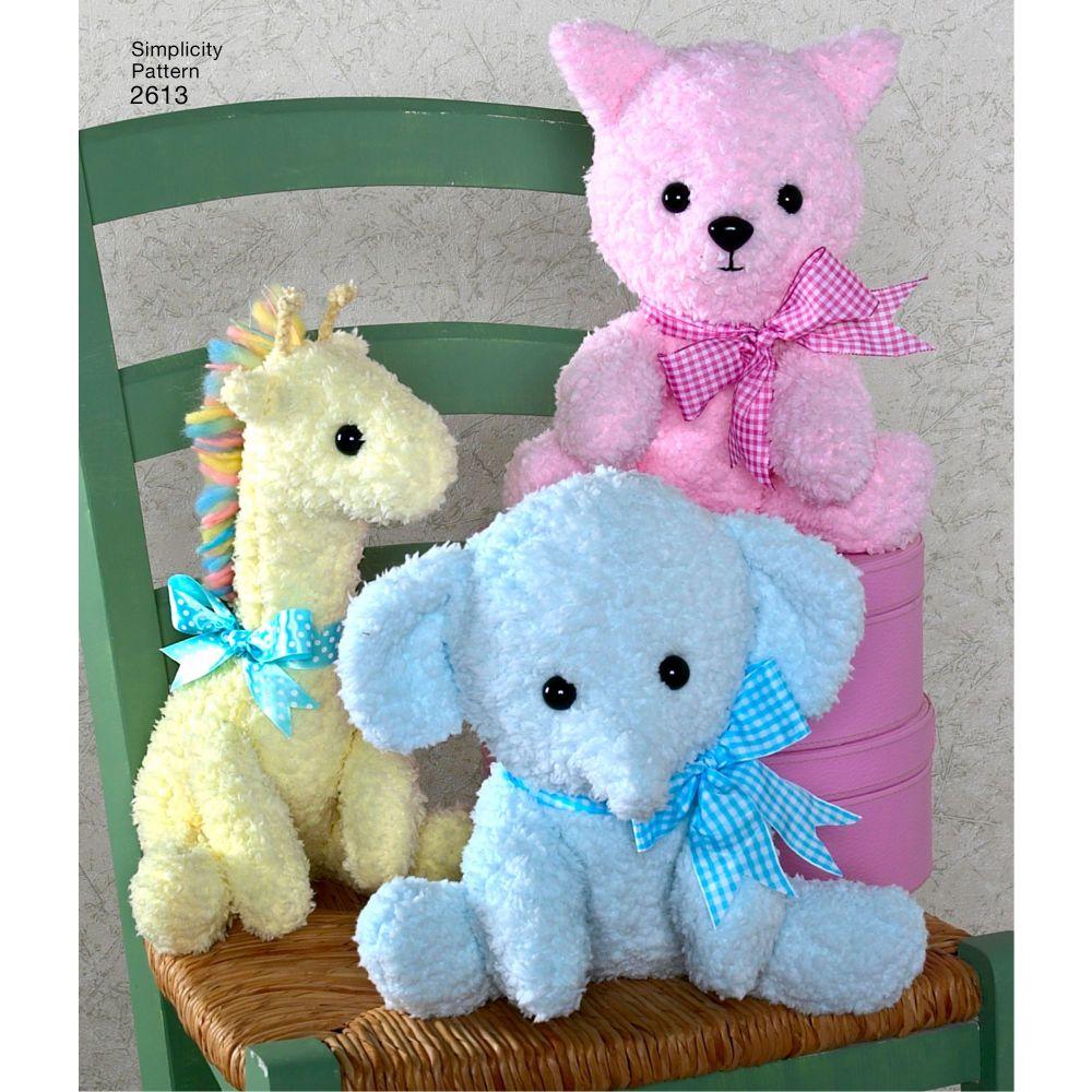 simplicity-stuffed-animals-pattern-2613-AV2
