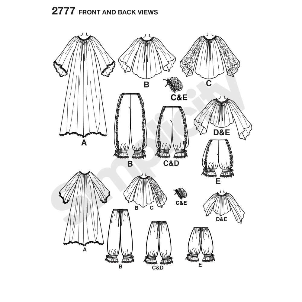 simplicity-costumes-pattern-2777-front-back-view