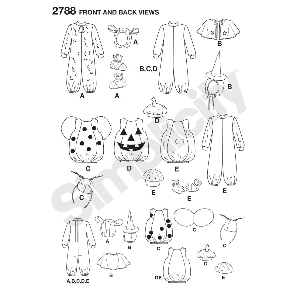 simplicity-costumes-pattern-2788-front-back-view