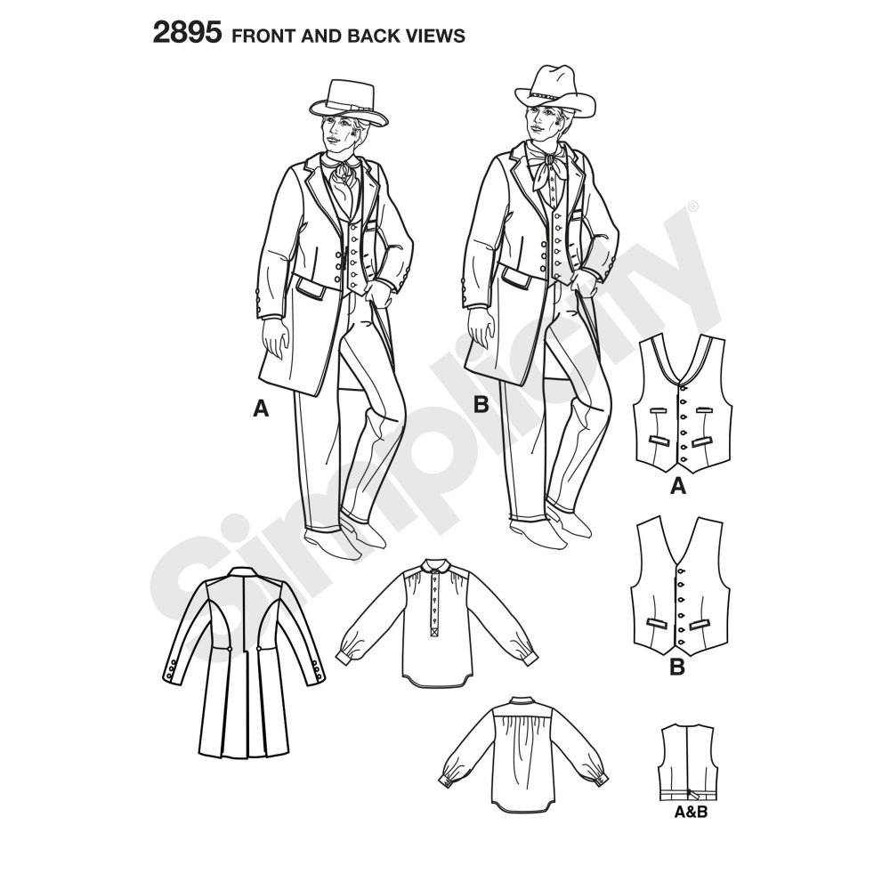 simplicity-costumes-pattern-2895-front-back-view