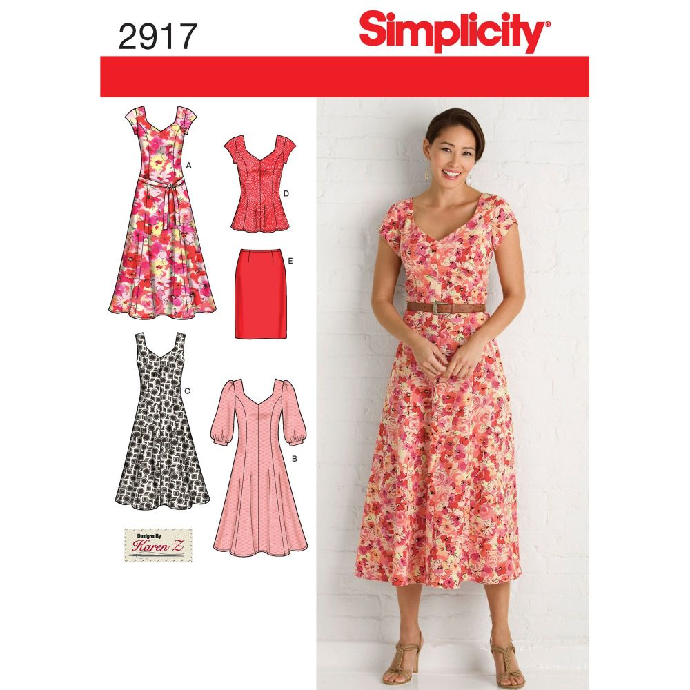 S2917 Simplicity sewing pattern BB (20W - 28W)