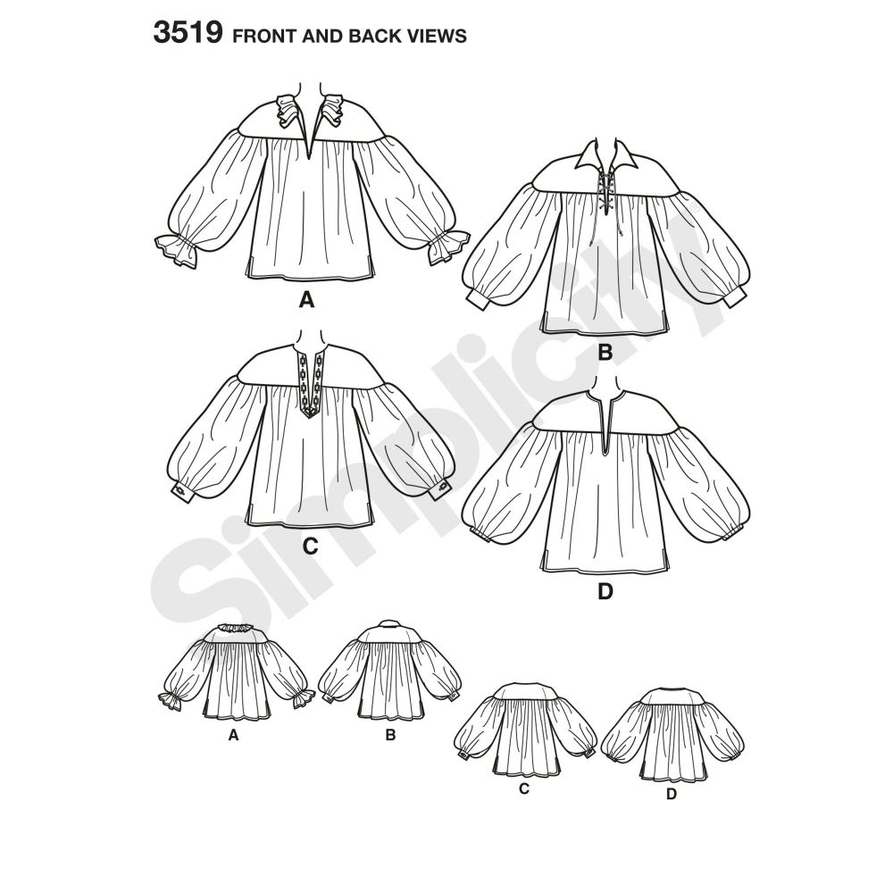 simplicity-costumes-pattern-3519-front-back-view