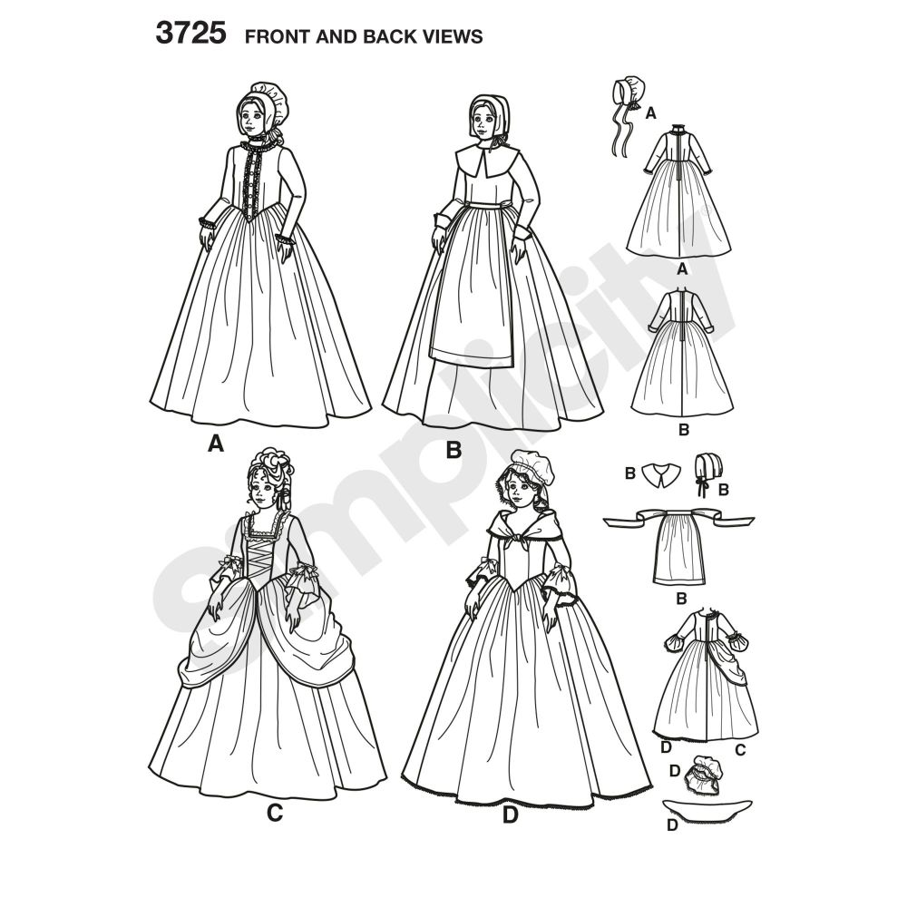 simplicity-children-pattern-3725-front-back-view