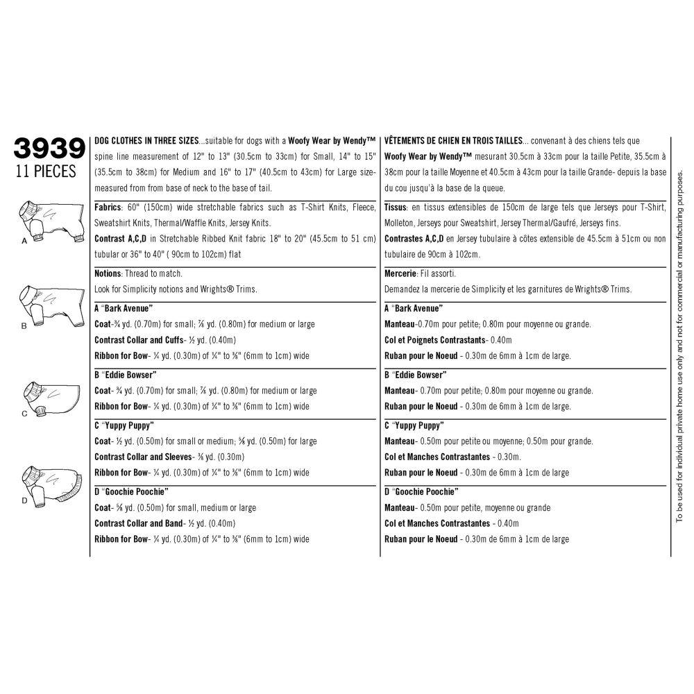 simplicity-pet-clothing-pattern-3939-envelope-back