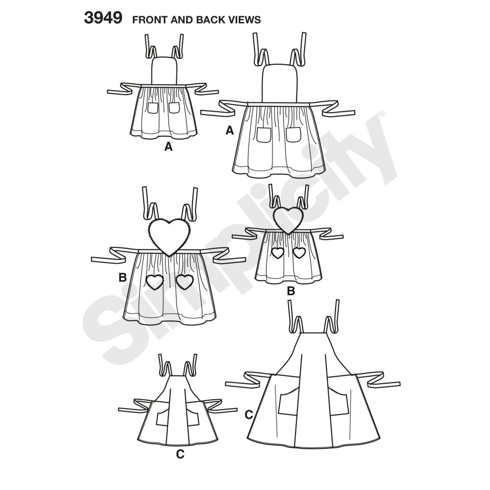 simplicity-aprons-pattern-3949-front-back-view