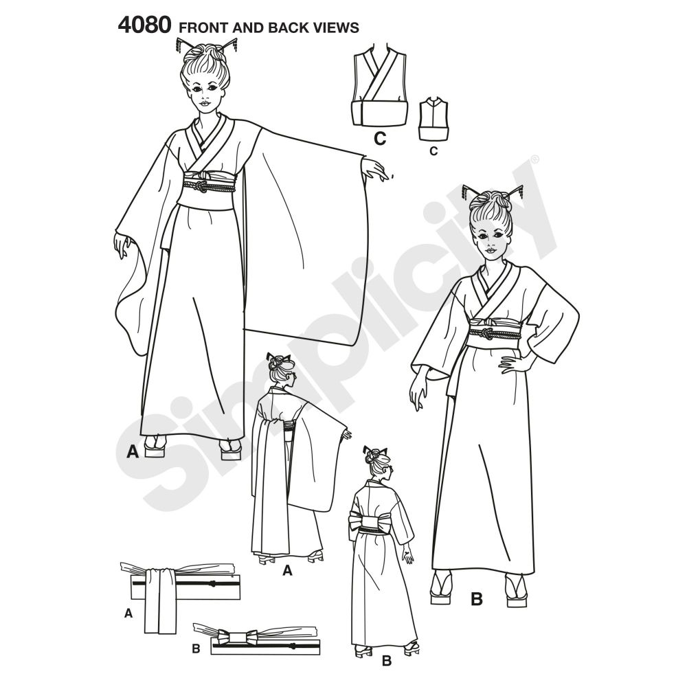simplicity-costumes-pattern-4080-front-back-view