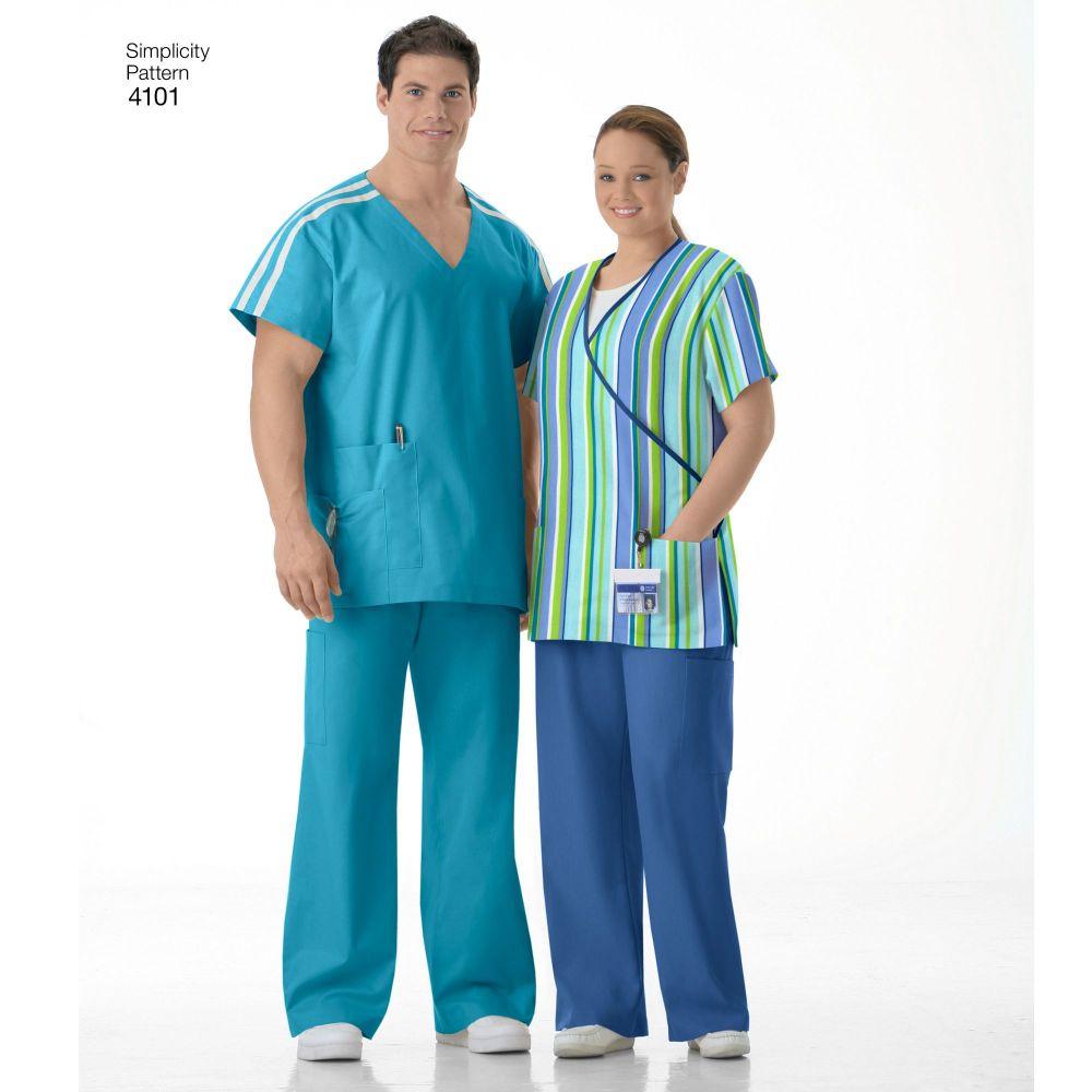 simplicity-unisex-scrubs-pattern-4101-AV1