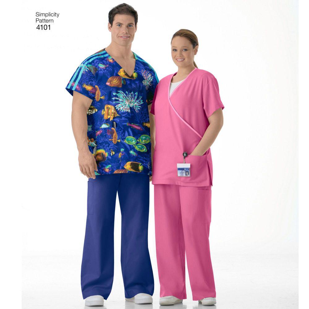 simplicity-unisex-scrubs-pattern-4101-AV1A