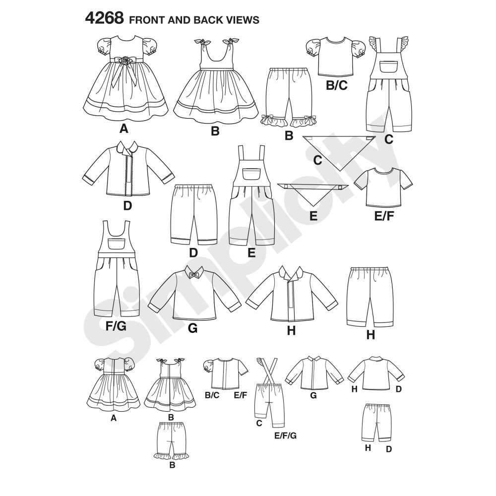 simplicity-doll-clothing-pattern-4268-front-back-view