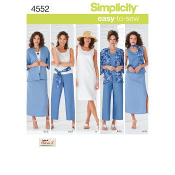 S4552 Simplicity sewing pattern BB (20W - 28W)