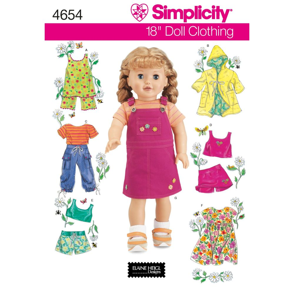 S4654 Simplicity sewing pattern OS (ONE SIZE)