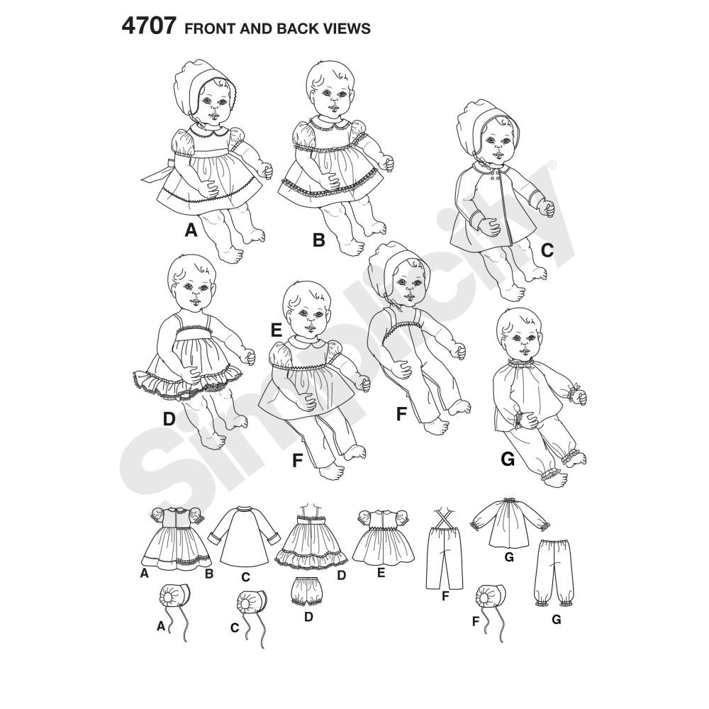 simplicity-doll-clothing-pattern-4707-front-back-view