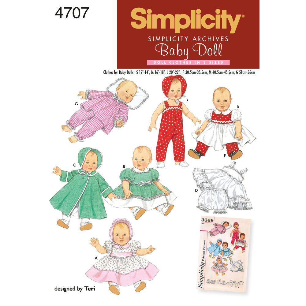 S4707 Simplicity sewing pattern A (S,M,L)
