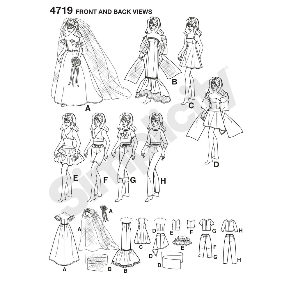 simplicity-doll-clothing-pattern-4719-front-back-view