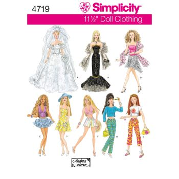 S4719 Simplicity sewing pattern OS (ONE SIZE)