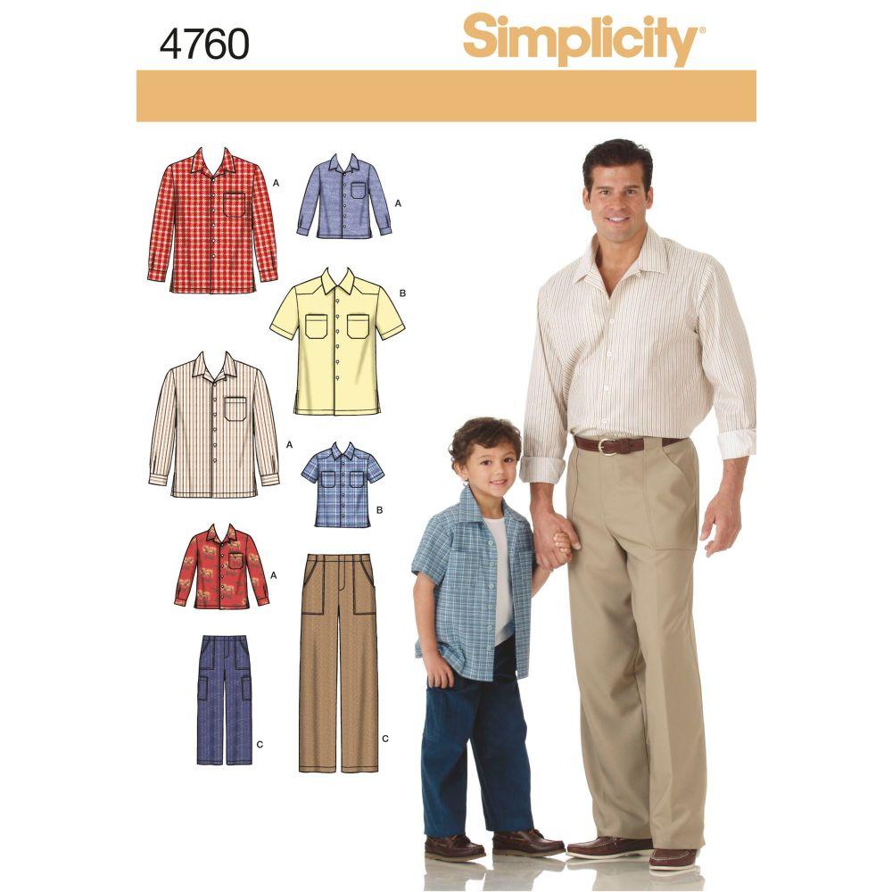S4760 Simplicity sewing pattern A (S M L/S M L XL)