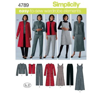 S4789 Simplicity sewing pattern BB (20W - 28W)