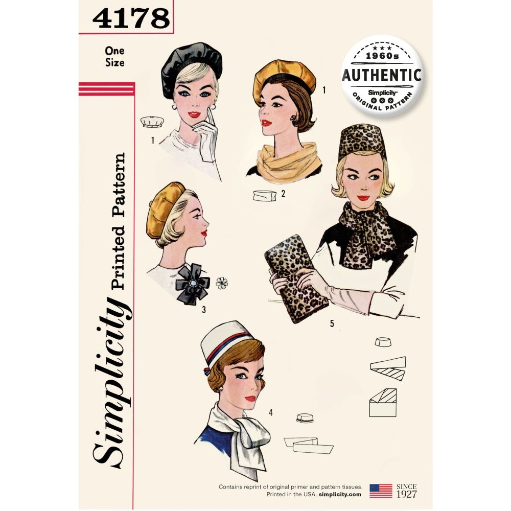 S4178 Simplicity sewing pattern OS (ONE SIZE)
