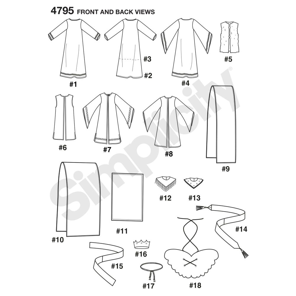 simplicity-costumes-pattern-4795-front-back-view