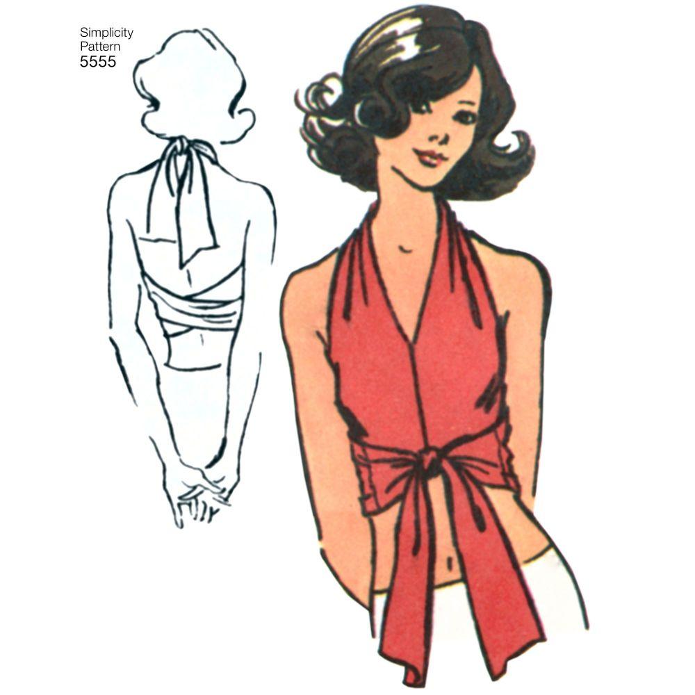 simplicity-vintage-halter-top-pattern-5555-AV4