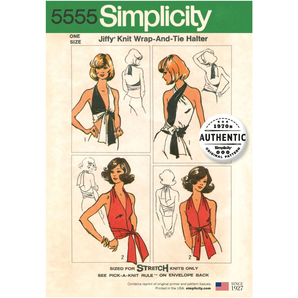 S5555 Simplicity sewing pattern OS (ONE SIZE)