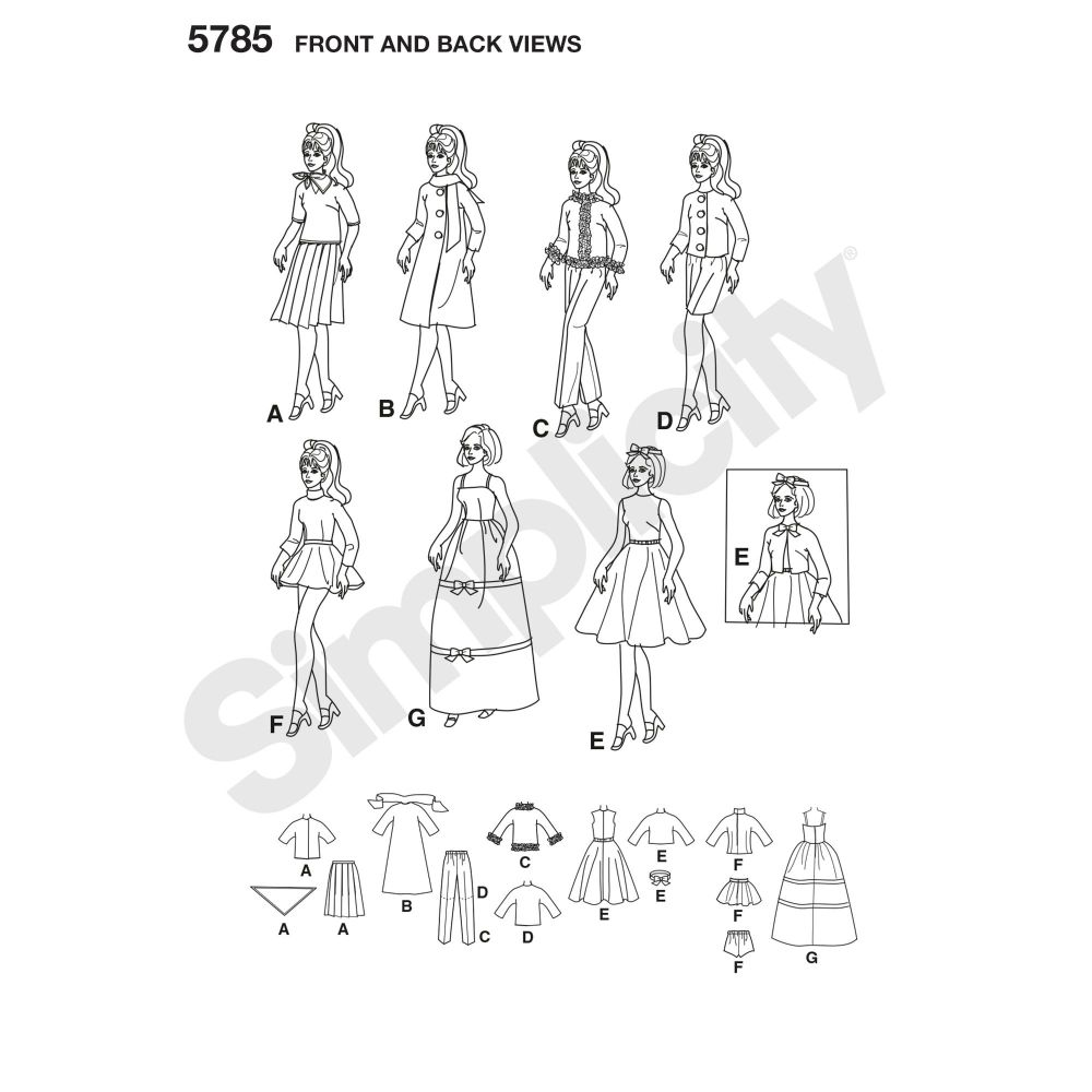 simplicity-doll-clothing-pattern-5785-front-back-view