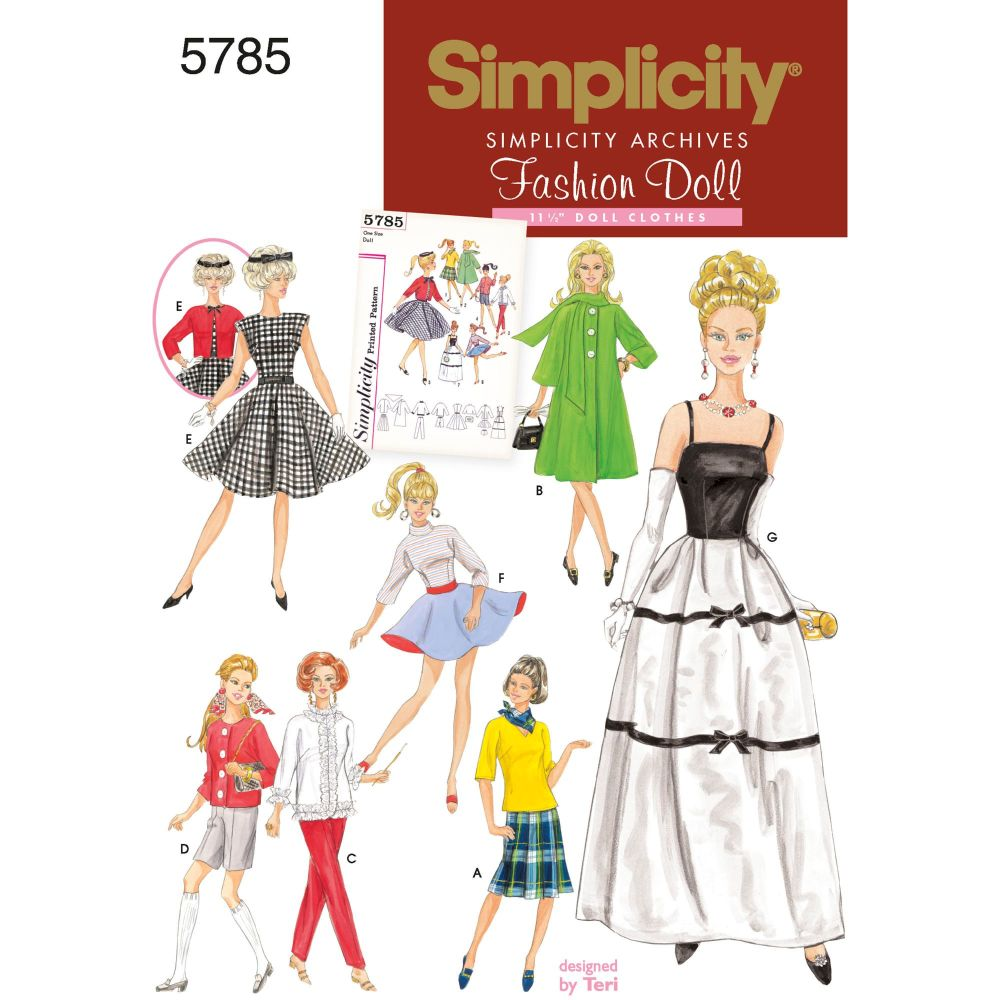 S5785 Simplicity sewing pattern OS (ONE SIZE)