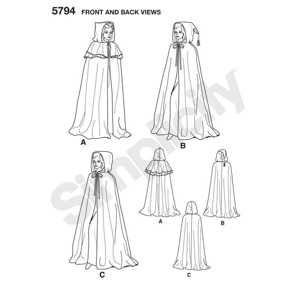 simplicity-costumes-pattern-5794-front-back-view