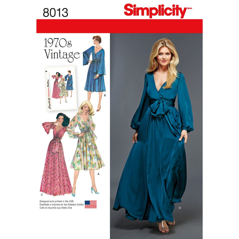 S8013 Simplicity sewing pattern H5 (6-8-10-12-14)