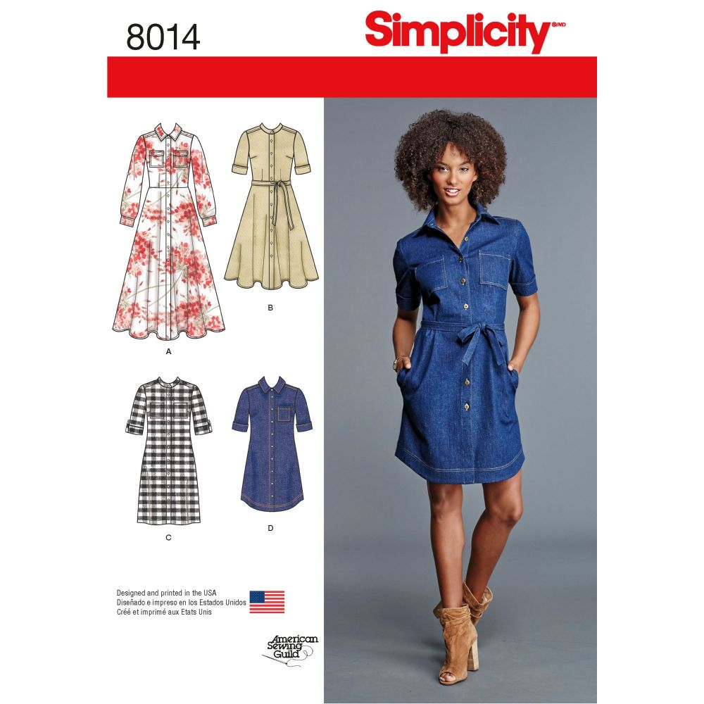 S8014 Simplicity sewing pattern H5 (6-8-10-12-14)